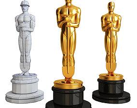 Oscar with a shovel sculpture 3D print model