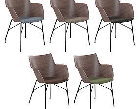 3D Chair Kartell Q-Wood light wood chrome