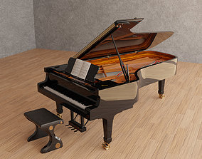 Grand Piano 3D asset realtime