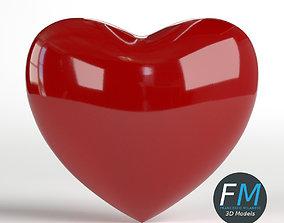 3D model PBR Heart shape