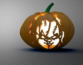 3D asset rigged Halloween Pumpkin