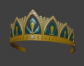 Queen Anna crown from Frozen 2 3D print model