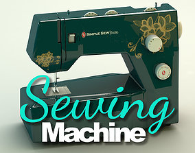 3D model Sewing Machine Vintage Style