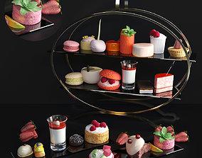 Set of sweets 3D model