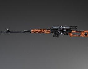 3D model SWD Dragunov sniper rifle