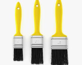 3 Brushes Set 3D
