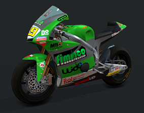 Bike Racing FTR600 3D asset