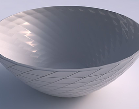 3D printable model Bowl wide with grid plates