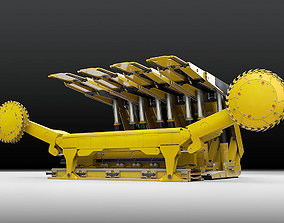 3D model hydraulic Longwall mining coal Shearer Loader