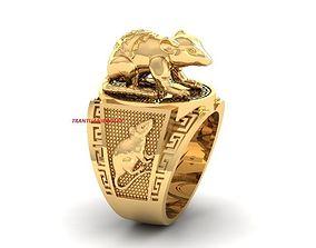 3D printable model 1196 Lucky Mouse Ring For Men