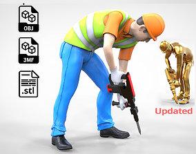 3D print model N2 Construction Worker 1 64 Miniature 3