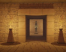 Egyptian Tombs with Pyramid 3D model