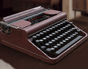 Realistic Game-Ready 1951 Red Olympia SM1 3D asset 1