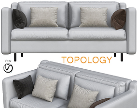3D model game-ready Sofa Modern Styles small Living