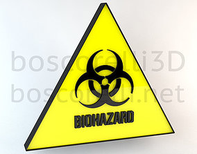 3D Biohazard Signs