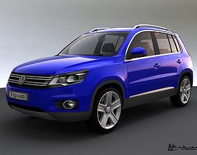 3D model Volkswagen Tiguan 2012 Track Field