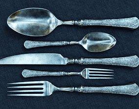 3D fancy cutlery set