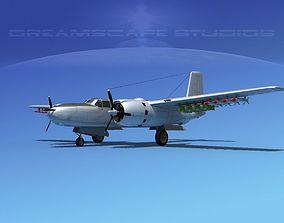 3D Douglas A-26B Invader V09