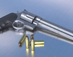 Revolver Smith and Wesson 3D