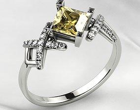 5mm Princess Gold Ring 3D printable model