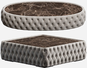 3D model CHELSEA OVAL AND SQUARE COFFEE TABLE DV HOME