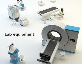 3D model Lab equipment glassware