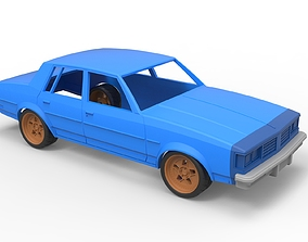 Diecast shell and wheels oldschool car 3D print model 3