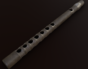 3D model Ryuteki traditional Japanese Instrument