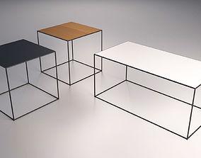 Table set living 3D model