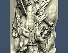 3d STL model for CNC Archangel Michael and the Devil