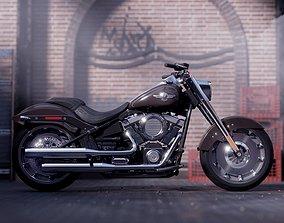 3D model PBR Harley Davidson Fatboy 2018