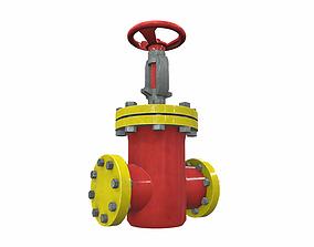 Industrial pipeline valve 3 3D