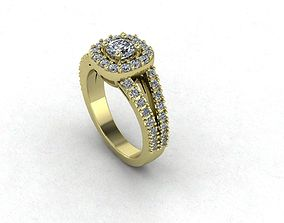 Gold And Diamonds Engagement Ring 3D print model