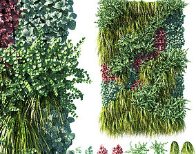 3D model Vertical garden Green wall 01
