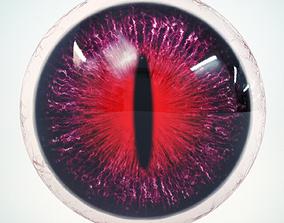 Cat Eye Violet Low Poly 3D asset