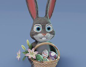 Easter Bunny 3D Model realtime