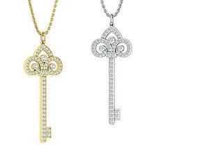 Diamond Key Necklace 3dmodel