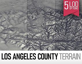Los Angeles County Terrain Elevation 3D asset