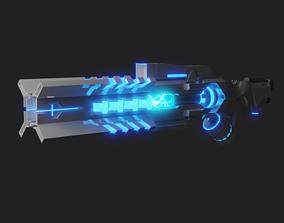Sci-fi Energy Gun 3D model