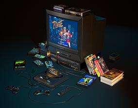 3D asset TV gaming set