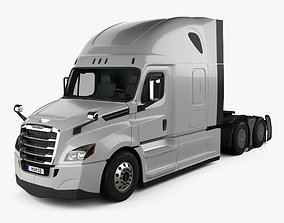 Freightliner Cascadia 126BBC 72 Roof AeroX 3D model 2