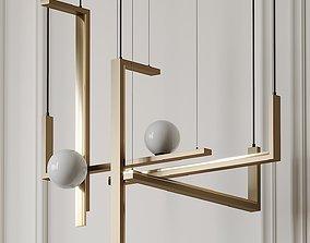 VeniceM Less 5 Pendant Light by Massimo Tonetto 3D