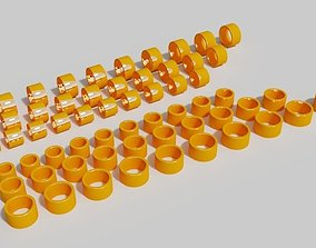 3D printable model 12mm with golden rings