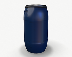 3D asset Barrel old