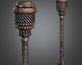Post Apocalyptic Iron Mace - PAM - PBR Game Ready 3D model
