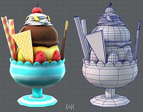 3D asset Ice cream cup
