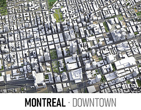 3D model Montreal - Downtown
