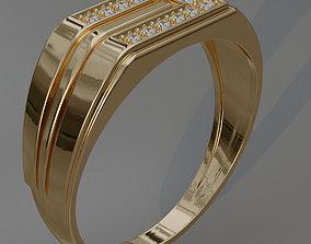 Ring 3D print model rings stones