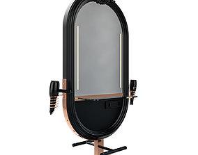 hairdresser table mirror black rose 3D model