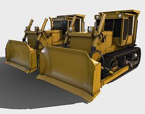 Bulldozer 3D asset VR / AR ready